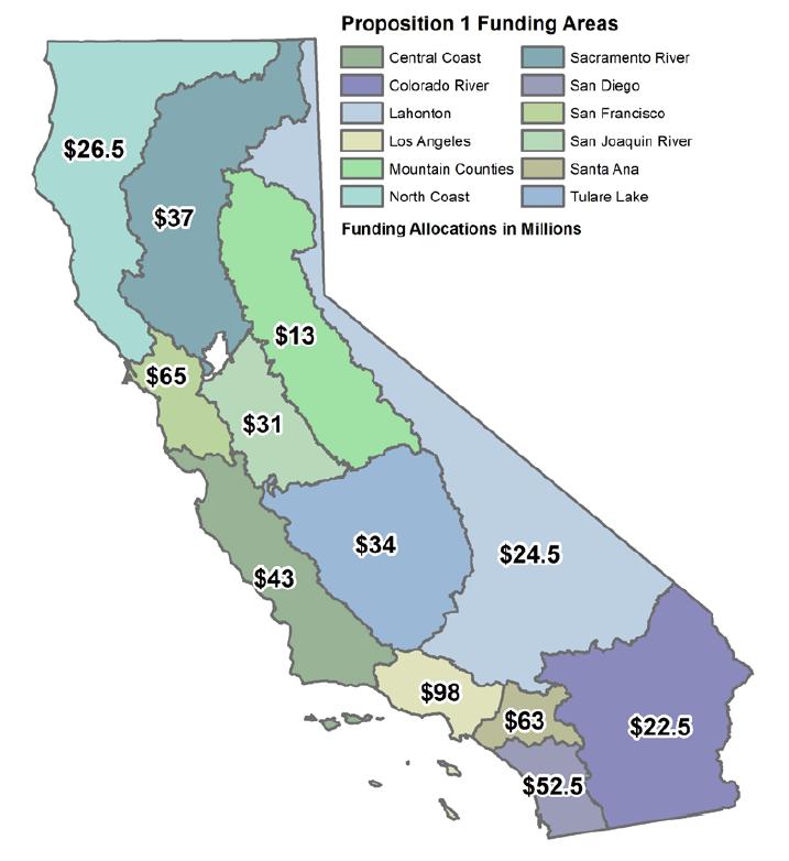 Prop 1 Funding Map